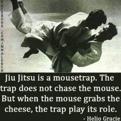 Jiu-Jitsu is a mousetrap - Helio Gracie Tai Chi, Jiu Jitsu Quotes, Helio Gracie, Martial Arts Quotes, Martial Arts Humor, Bjj Memes, Funny Memes, Krav Maga Self Defense, Jiu Jitsu Training