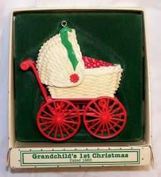 Hallmark Keepsake Christmas Ornament – 1983 MIB, Grandchild's First Christmas - QX4309 on Etsy, $14.99