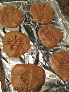 fossil cookies.  cute for a theme party