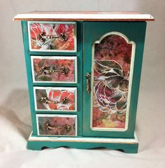 Lavender Jewelry Box Armoire Large Jewelry Box Silver Jewelry