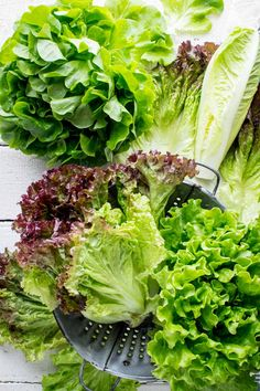 Produce Spotlight on Healthy Seasonal Recipes: The Ultimate Guide to Lettuce. Tips for home gardeners on how to grow, harvest and wash lettuce. How to cut lettuce. What are the different kinds of lettuce. And nutrtion tips. Lettuce Recipes, Taco Lettuce Wraps, Head Of Lettuce, Lettuce Leaves, Storing Lettuce, Spicy Shrimp Tacos, Bitter Greens, Farmers Market Recipes, Great Northern Beans