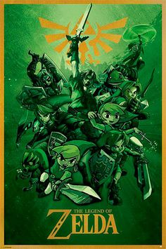 Póster Legend of Zelda, Link Estupendo póster basado en el video juego Legend of Zelda.