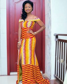 Hey Guys, We have selected some of the finest Kente styles that can fit your personality. Every one of us is a boss chic depending how we look at what we do. Kente fabrics are not new local fabric… African Girl, African Dresses For Women, African Print Fashion, Africa Fashion, African Attire, African Wear, African Fashion Dresses, African Women, African Style