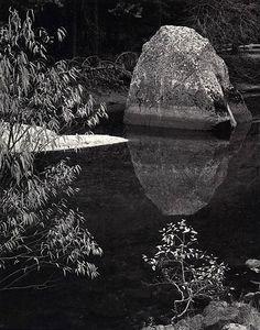 1962 Rock, Merced River, Autumn, Yosemite Valley, California by Ansel Adams 84.91.167