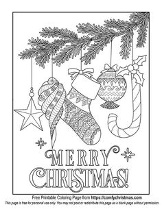 Free Printable Christmas Ornament Coloring page for you to download!