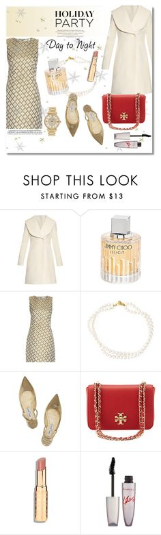 """""""Day to night"""" by vkmd on Polyvore featuring J.W. Anderson, Jimmy Choo, Diane Von Furstenberg, STELLA McCARTNEY, Tory Burch, Whiteley, Rimmel, Michael Kors and HolidayParty"""
