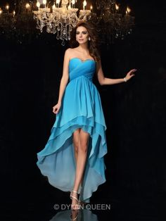 multi colors short prom dress high low homecoming dress