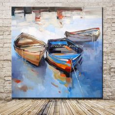 Style Your Home Today With This Amazing 1 Panel Abstract Boat Unframed Wall Canvas Art For $177.00  Discover more canvas selection here http://www.octotreasures.com  If you want to create a customized canvas by printing your own pictures or photos, please contact us.