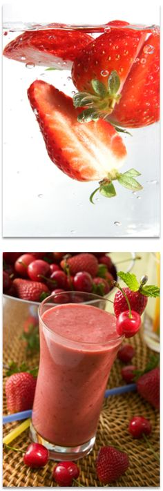 Erdbeer-Shake | Zutaten für ein Glas: 125 g Erdbeeren, 1 EL Zitronensaft, 1 TL Vanillin-Zucker, 180 ml Buttermilch, 1 kleine Kugel Eiscreme (Erdbeere, Zitrone oder Vanille) | Zubereitung: Geputzte Erdbeeren, Zitronensaft, Vanillin-Zucker, Buttermilch und Eis durchmixen. #HSE24 #food #recipes