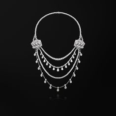 Collier or blanc diamant - Piaget Joaillerie G37LE500