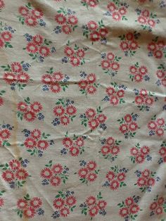 Vintage Unopened Pink Floral Feed Sack Fabric by thecherrychic