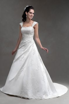 AT4425 Delicate Gown Features Soft Cap Sleeves And A Lace Up Back The Fuller Traditional Wedding DressesTraditional