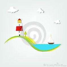 Faro por el mar