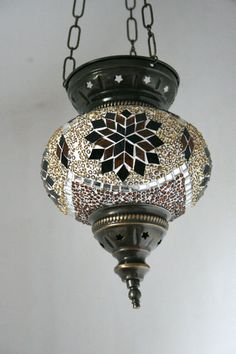 Turkish Morrocan hanging mosaic lamp----THIS IS THE LAMP I BOUGHT IN MOSTAR THIS SUMMER!!! Turkish Lanterns, Turkish Lamps, Moroccan Lamp, Bohemian Lamp, Foyer Pendant Lighting, Lantern Lamp, Traditional Lighting, Art Nouveau Design, Glass Candle Holders