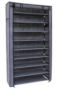 SONGMICS 10 Tiers Shoe Rack with Dustproof Cover Closet Shoe Storage Cabinet Organizer Grey URXJ36G Shoe Storage Organiser, Hanging Shoe Organizer, Closet Shoe Storage, Shoe Storage Cabinet, Cube Organizer, Storage Cabinets, Storage Organization, Microwave Cabinet, Diy Garden Decor