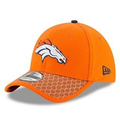 aab85fb7f Men s Denver Broncos New Era Orange 2017 Sideline Official 39THIRTY Flex Hat