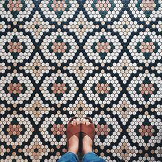 Perfect pattern and super cute wrap shoes in this photo from @paigejonesphoto in #DSFloors