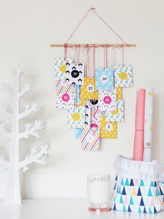 How many sleeps left until Christmas? 11 stylish DIY advent calendars to help you start the countdown the Christmas. Colorful advent calendar via A Subtle Revelry. Christmas Countdown, Frugal Christmas, Christmas Printables, Simple Christmas, All Things Christmas, Holiday Crafts, Holiday Decor, Christmas Photos, Christmas Calendar