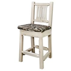 Montana Woodworks Homestead 24 in. Wildlife Counter Stool, Ready To Finish Counter Stools, Bar Stools, Log Furniture, Counter Space, Vanity Bench, Homesteading, Montana, Dining Chairs, Wildlife