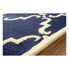 $5 Off when you share! Tuscan Trellis Navy Rug | Contemporary Rugs #RugsUSA