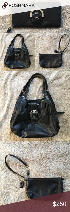 🎁 BUNDLED LISTING FOR BLACK LEATHER COACH ITEMS This listing if for ALL THREE items pictures. No negotiating any items out. These items can be bought separately in the other listings. This listing includes the Coach leather purse, Coach leather wallet and Coach leather wristlet.  Please view other listings for all the photos. This is priced to sell! Coach Bags
