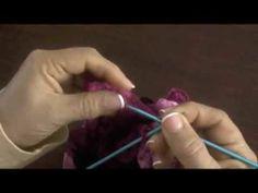 Bufanda tejida en dos agujas con cinta de  malla