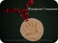 Make your own baby hand or foot print ornament or keepsake.