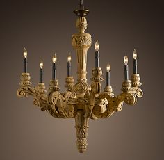 19TH C. FRENCH BAROQUE WOOD CHANDELIER - Restoration Hardware