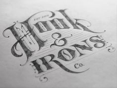 Hook & Irons Co. – Logo Sketch  by Tom Lane
