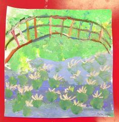 Art Lesson  Gr. 1: Monet's Bridge