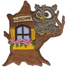 Dakota Collectibles Embroidery Design Treehouse Owl 363 Inches H X 345 W