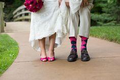 Navy & Pink Arboretum Wedding