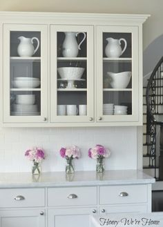 Honey We're Home: Painted Kitchen Cabinets. LOVE white kitchens!!!