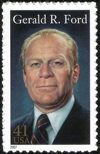 """Gerald Rudolph """"Jerry"""" Ford, Jr. was the 38th President of the United States, serving from 1974 to 1977, and prior to this, was the 40th Vice President of the United States serving from 1973 to 1974. ~~ Born: July 14, 1913, Omaha, NE ~~ Died: December 26, 2006, Rancho Mirage, CA ~~ Full name: Leslie Lynch King, Jr."""