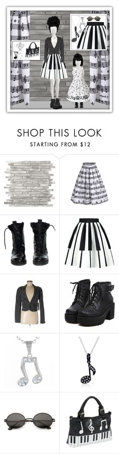 """""""Rosegal music"""" by banhary ❤ liked on Polyvore featuring Music Notes, Theyskens' Theory, Rachel Rachel Roy, West Coast Jewelry, Kobelli, Ashley M and vintage"""