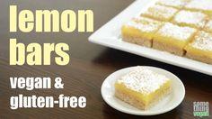lemon bars (vegan & gluten-free) Something Vegan - YouTube