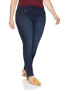 eccfa98314e5e LEE Women s Plus Size Sculpting Slim Fit Skinny Leg Pull on Jean at Amazon  Women s Clothing