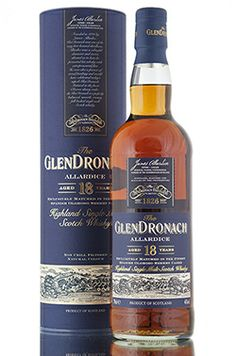 GlenDronach 18 year old 'Allardice' has been exclusively matured in the finest Spanish Oloroso sherry casks.   http://www.abbeywhisky.com/glendronach-18-year-old-allardice-scotch-malt-whisky