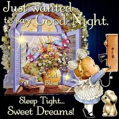 Good night sister and all, may you have a peaceful sleep, sweet dreams. Cute Good Night Quotes, Good Night Love Images, Good Night Prayer, Good Night Blessings, Good Night Gif, Good Night Messages, Good Night Moon, Good Night Image, Night Night