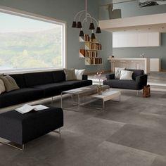 Quickstep Polished Concrete Dark Laminate Flooring