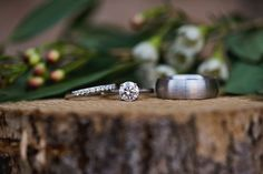 Round Engagement Ring, Engraved Wedding Bands | Brides.com