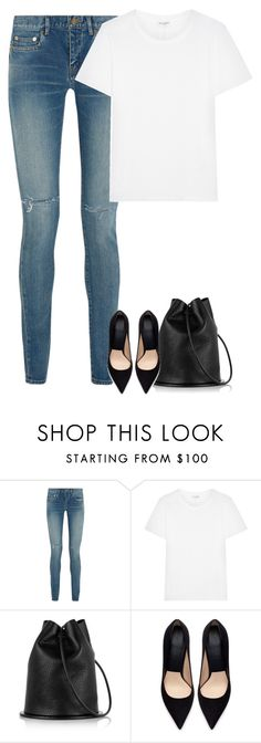 """""""Untitled #7824"""" by fanny483 ❤ liked on Polyvore featuring Yves Saint Laurent and Zara"""