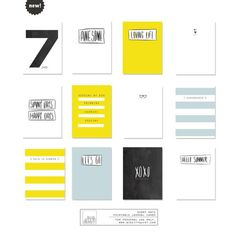 Digital Journal Cards - Sunny Days