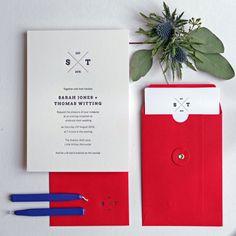 Emblem Letterpress Wedding Invitation - Wolf & Ink 2015 Collection