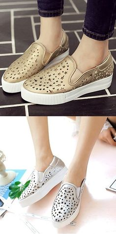 Keep your outfit hip wearing these sneakers with a wedge heel and stars pattern! Is it for you? Click for more info <3