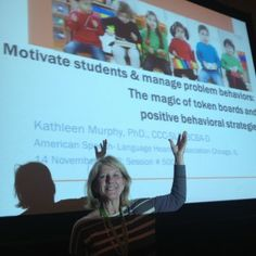 Kathy presented on The Magic of Token Boards & Positive Behavior Strategies at the ASHA 2013 conference. The talk combined her long time SLP knowledge with her more recent BCBA studies. Apps For Teaching, Teaching Skills, Classroom Behavior System, Token Boards, Token Economy, Positive Behavior, Student Motivation, Aba, Speech And Language