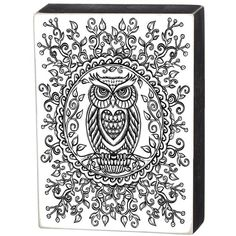 Primitives By Kathy 'Color Your Own - Wisdom' Box Sign (€22) ❤ liked on Polyvore featuring home, home decor, small item storage, white, primitives by kathy box signs, black and white home decor, white home decor and primitives by kathy