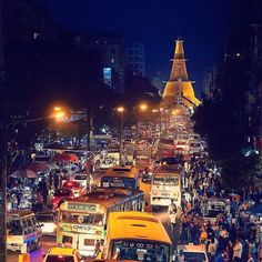 As night falls the city of #Yangon comes to life! The sidewalks become markets... And the streets become sidewalks... leaving whatever is left over for the cars to struggle through.  This is a repost from my personal account @rabinography. Check it out posts of my adventures through SE Asia