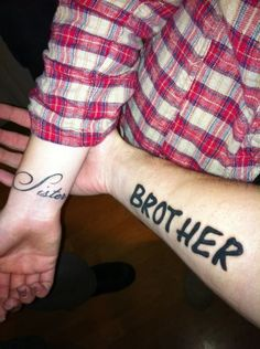 Sister/Brother Tattoos