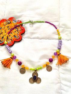 SALE GYPSY BRIDE Necklace  Kuchi Necklace Ethnic by Nezihe1, $49.00